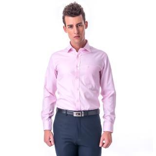 ~金安德森~粉色斜紋窄版長袖襯衫