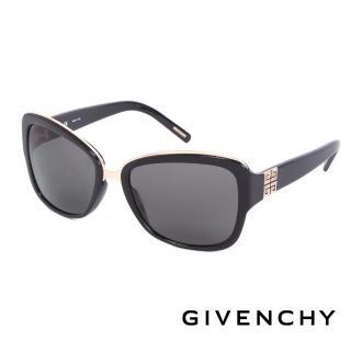 【GIVENCHY 紀梵希】都會玩酷時尚造型太陽眼鏡(-黑- GISGV827-0700)
