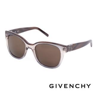 【GIVENCHY 紀梵希】都會玩酷大理石紋造型太陽眼鏡(-褐- GISGV826-0AG1)