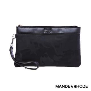 【MANDE RHODE 曼德羅德】卡莫雷茲-美系潮男風格手拿包-迷彩黑(P8888)