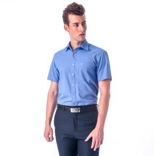 【金安德森】深藍基本款窄版短袖襯衫-fast