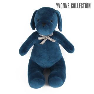 【Yvonne Collection】乖乖坐姿狗玩偶(沉穩藍)