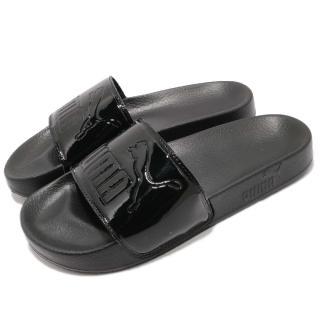 【PUMA】涼拖鞋 Leadcat Patent 女鞋 穿脫方便 套腳 夏日 運動 休閒 黑(36728201)