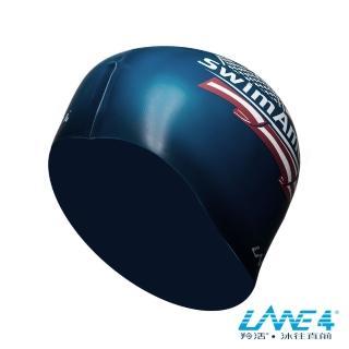 【LANE4羚活】美國國旗矽膠泳帽(矽膠材質 視覺感搶眼 減少阻力設計)