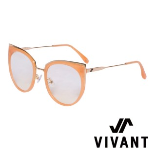 【VIVANT】愛戀系列金屬貓眼太陽眼鏡.橘(AMOUR C5)