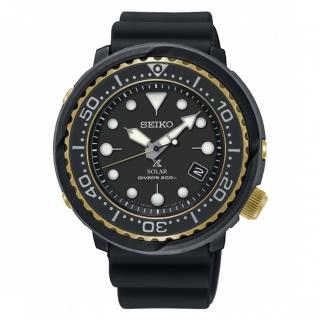 【SEIKO 精工】PROSPEX 廣告款太陽能潛水橡膠腕錶(V157-0CX0X/SNE498P1)