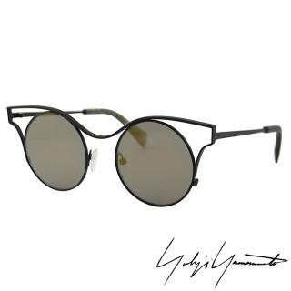 【Y-3山本耀司】Yohji Yamamoto 日式禪風美學圓弧經典太陽眼鏡(古黃-YY7014-004)