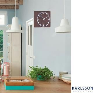 【歐洲名牌時鐘】KARLSSON-時尚雙面鐘/深《歐型精品館》(簡約時尚造型/掛鐘/壁鐘)