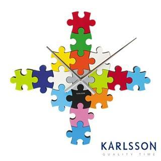 【歐洲名牌時鐘】KARLSSON-拼圖時鐘《歐型精品館》(簡約時尚造型/掛鐘/壁鐘)