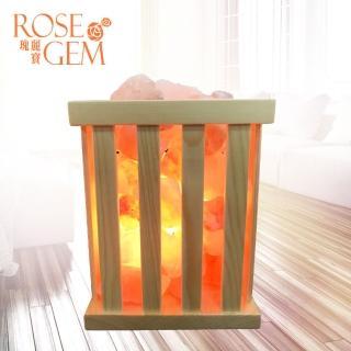 【瑰麗寶】自然風木藝鹽燈-L