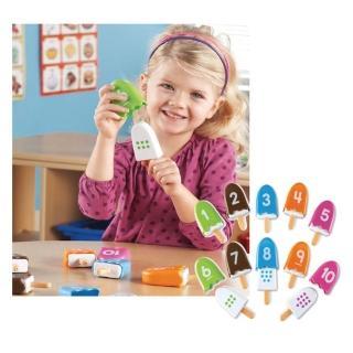 【Learning Resources】數字冰棒 家家酒玩具  兒童房幼兒園(益智成長 邏輯建構 原裝進口)