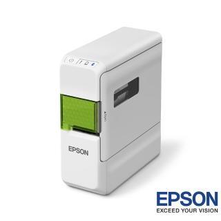 【超值組】贈2卷12mm原廠標籤帶(黃底黑字/黑底金字)【EPSON】LW-C410藍芽手寫標籤機
