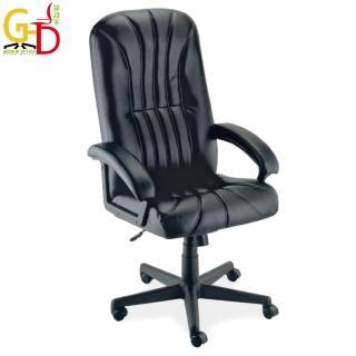 【GD綠設家】卡納  時尚黑皮革辦公椅