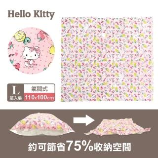 【SANRIO 三麗鷗】Hello Kitty衣類氣閥真空壓縮袋L(居家衣物棉被收納、防潮防蟲防霉)