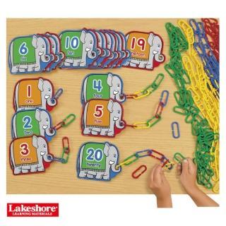 【Lakeshore】大象連連看 數數加法計算 一對一的對應(益智成長 邏輯建構 原裝進口)