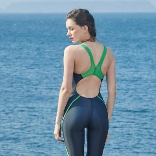 【MARIUM】泳裝 連身泳裝 競賽泳衣 大女競賽鯊魚裝(MAR-A8027W)