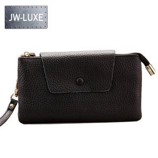 【JW】LUXE系列- 真皮頭層牛皮貴族雙層手拿鏈帶二用肩背包(共10色)