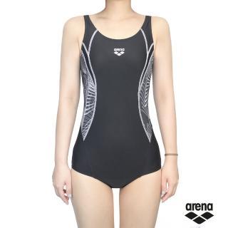 【arena】女用三角連體運動泳衣 TMS8132W(插片式胸墊 精工細作)