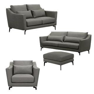 【AS】威弗列德灰布1+2+3人坐全拆式沙發