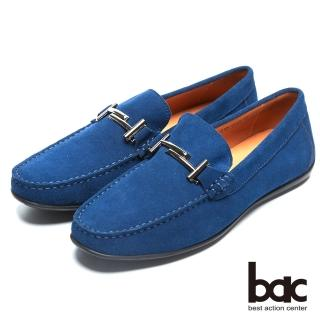 【bac】時尚樂活 金屬裝飾帆船鞋(藍色)