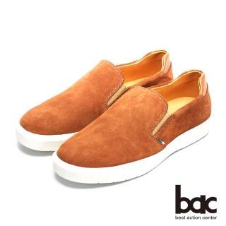 【bac】時尚潮流 進口牛皮休閒鞋(杏色)