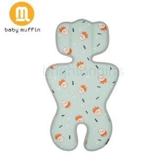 【baby muffin】推車汽座兩用3D透氣墊(海藍章魚)