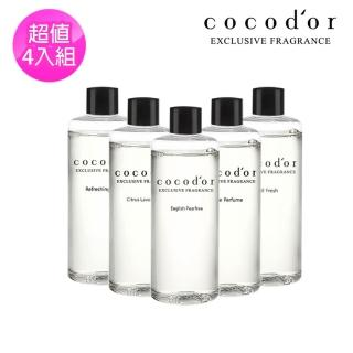【cocodor】室內擴香補充瓶 4入組 200mlx4(補充瓶 環保 擴香瓶 韓國)