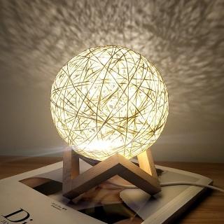 北歐簡約 LED藤球燈/氣氛燈(USB電源 小夜燈 床頭燈)