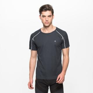 【SKISPORTS】抗污防臭吸濕排汗男運動衫(深灰T7022)