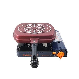 【卡旺】雙安全卡式爐+韓國烤盤(K1-A005D+NU-G)