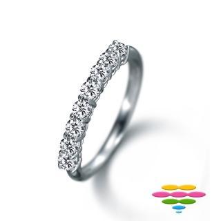 【彩糖鑽工坊】18K 鑽石 排戒 線戒(Elegance 系列)