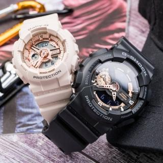 【CASIO 卡西歐】G-SHOCK & BABY-G 心心相印情人對錶(GA-110RG-1ADR_BA-110CP-4ADR)