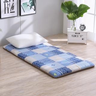 【LAMINA】雅蓆兩用床墊-藍色水波5cm(單人)