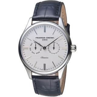 【CONSTANT 康斯登】經典日期紳士腕錶(FC-259ST5B6 白)