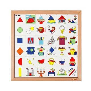 【Educo】形狀配對板 益智遊戲幼兒園保姆(益智成長 邏輯建構 原裝進口)