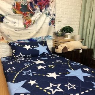 【AndyBedding】MIT鋪棉刮青竹蓆床墊-單人3尺(跳躍星空)