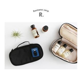 【Romane】Brunch Brother 尼龍萬用收納包 - 黑(收納袋/鉛筆盒/醫療包/化妝包/旅行包)