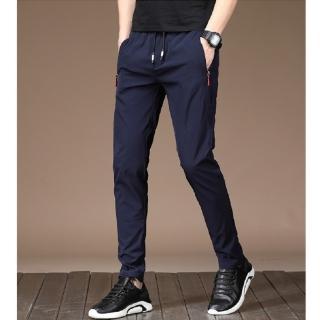 【NBL】L03399韓版彈力鬆緊帶長褲(男裝速乾舒適透氣休閒直筒褲)