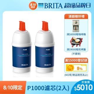 【德國BRITA】mypure P1000硬水軟化型濾芯(二入)