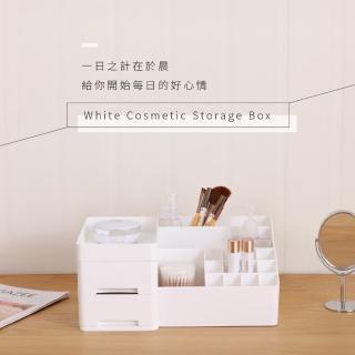 【IDEA】多格收納化妝飾品環保霧面收納盒(17格+2抽)