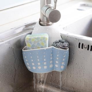 【iRoom優倍適】小麥秸稈雙層水槽瀝水籃掛袋(2入組)