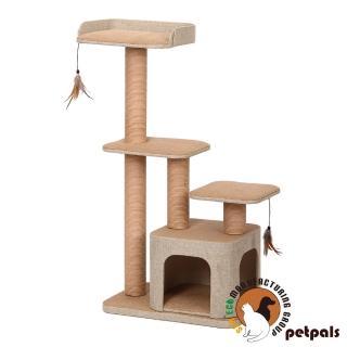 【Petpals】麻布紙繩雙洞遊憩跳台(4層)