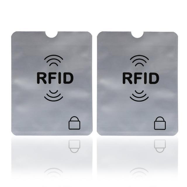 RFID防消磁防盜錄信用卡鋁箔卡套-2入/