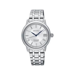 【SEIKO 精工】PRESAGE 日期顯示機械女錶(4R35-01B0W/SRP857J1)