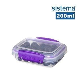 【SISTEMA】紐西蘭進口扣式保鮮盒200ml(顏色隨機)