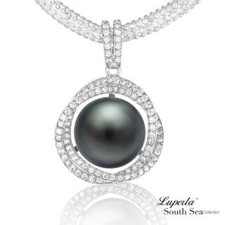 【大東山珠寶】極致閃耀 頂級南洋珍珠項鍊(大溪地黑珍珠)