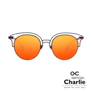 【Optician Charlie】韓國亞洲專利 NPC系列太陽眼鏡(酒紅 + 水銀橘鏡面 NPC RG - 雜誌款)