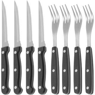 【KitchenCraft】鋸齒牛排刀叉8件組
