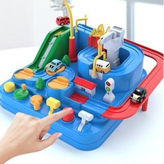 【GCT玩具嚴選】汽車闖關大冒險(無須電力 機械式汽車冒險桌遊)