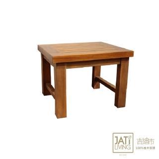 【吉迪市柚木家具】簡約原木方形板凳/椅凳-小HY031(置物架 收納 大地原木質感 極簡 家用 臥室)